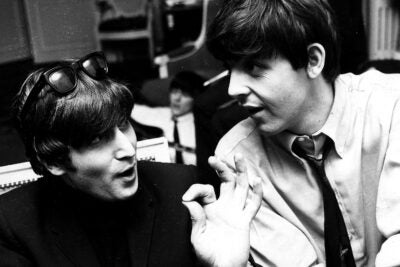 John Lennon and Paul McCartney.