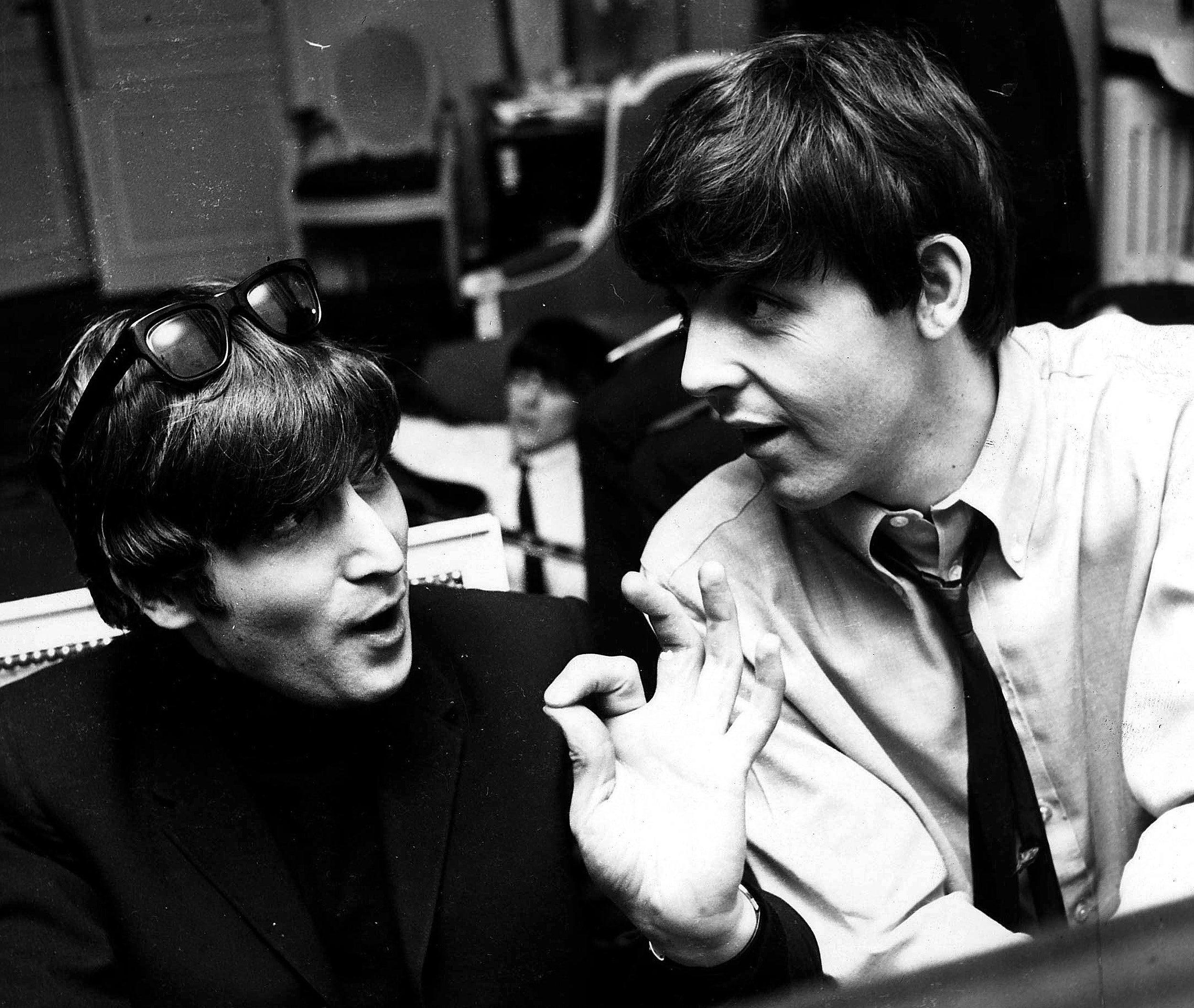 John Lennon and Paul McCartney.