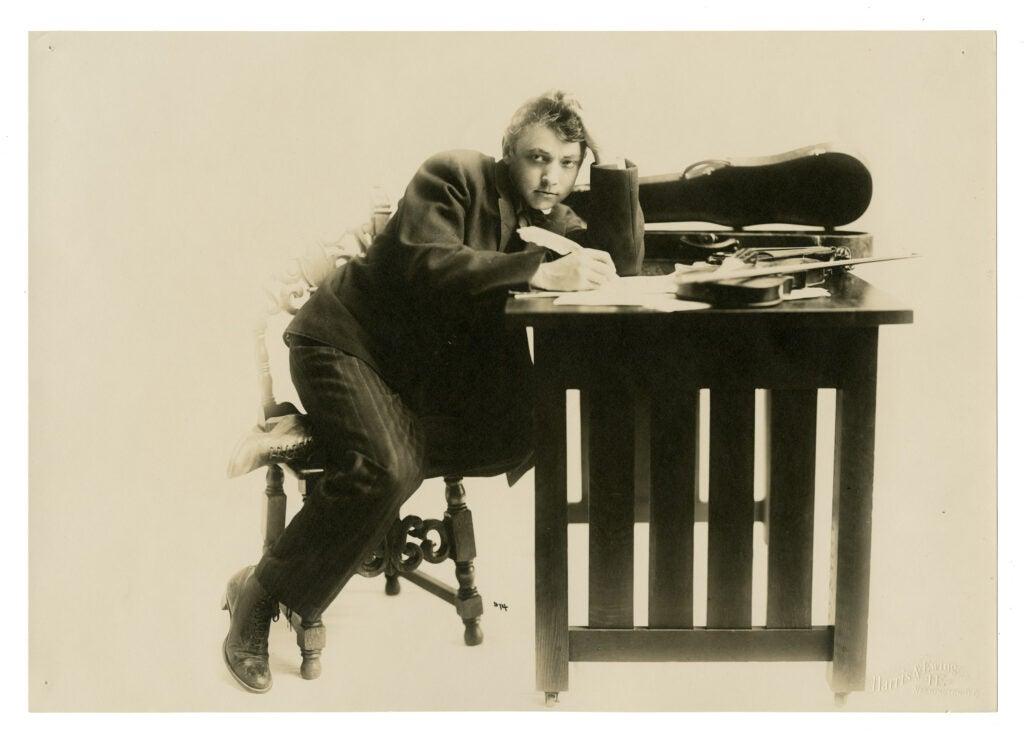 """Walter Whiteside in """"The Melting Pot,"""" 1908."""