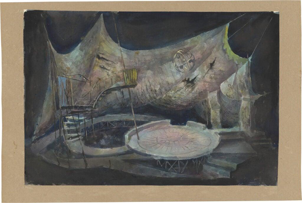 """""""Rhinoceros"""" set design by Leo Kerz, 1961"""