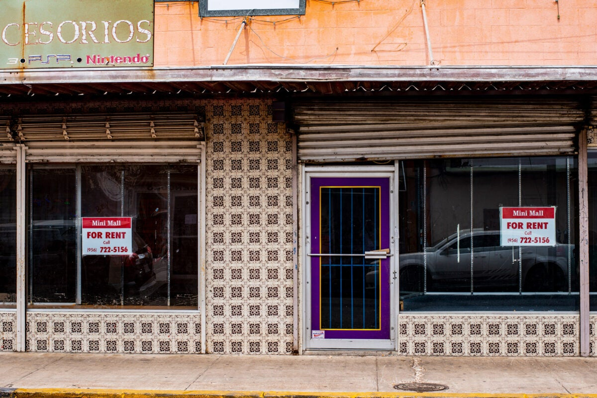 Storefront in Laredo, Texas.