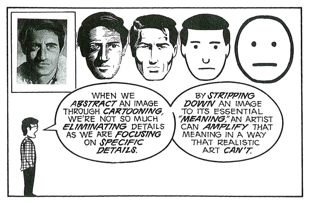 """Panel from """"Understanding Comics."""""""