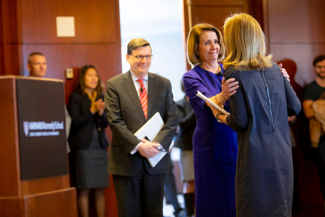 Pelosi and Caroline Kennedy