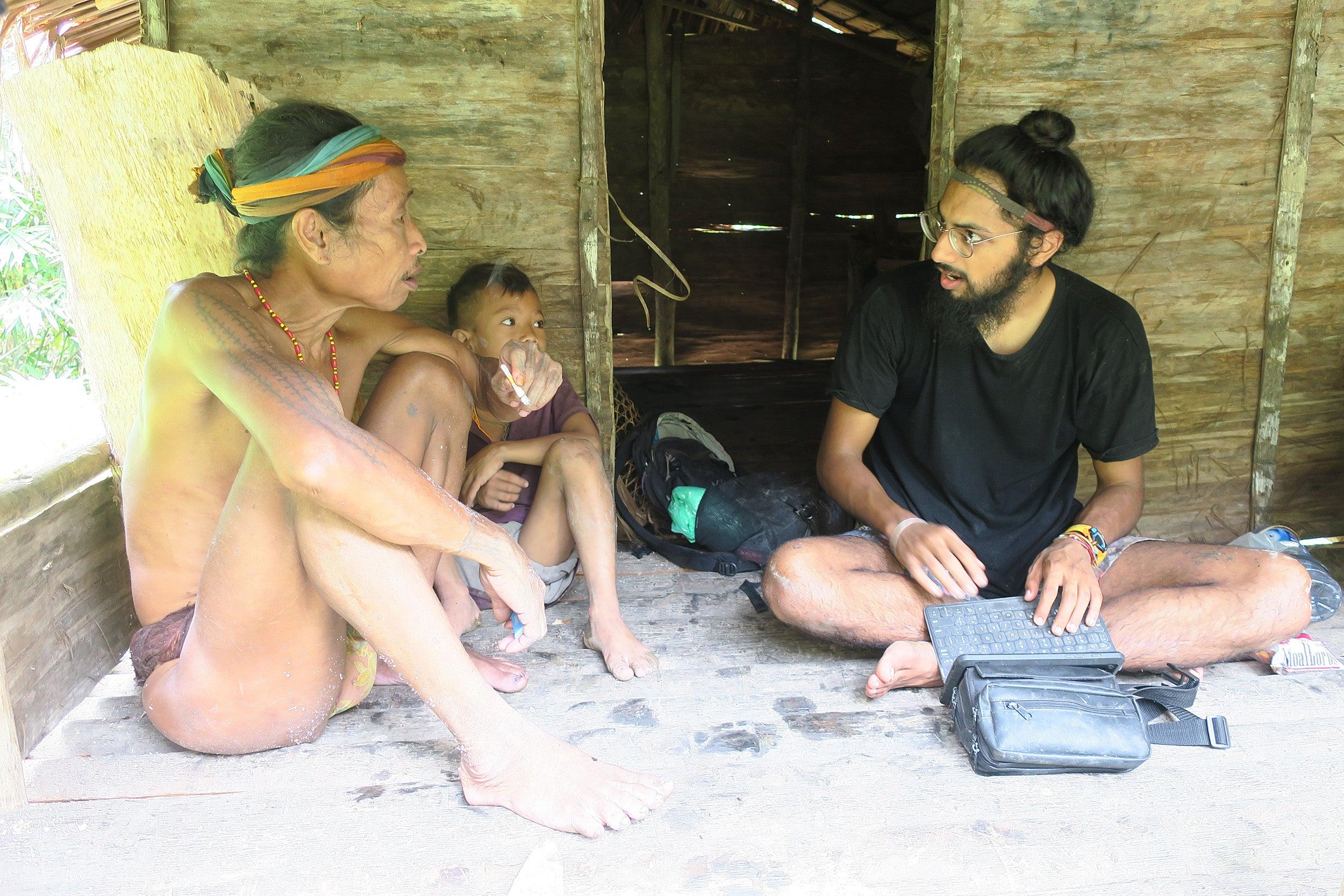 Manivr Singh with shaman
