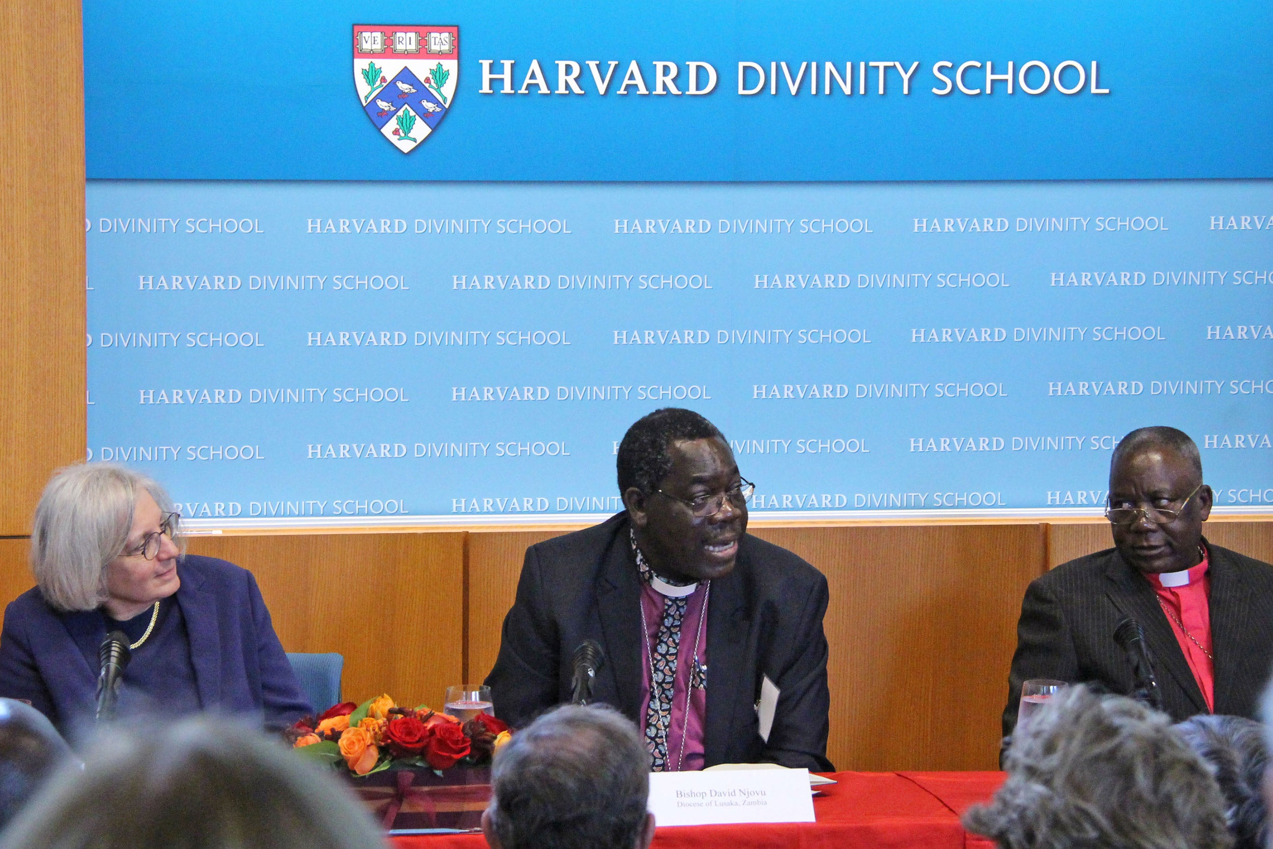 """We don't go there to condemn a traditional healer, because as soon as you do that, you create a gap,"" said Anglican Bishop David Njovu of Zambia (center) in describing his approach, which includes education and acknowledging the role of faith. Panelists Professor Dyann Wirth and Bishop André Soares are also pictured."