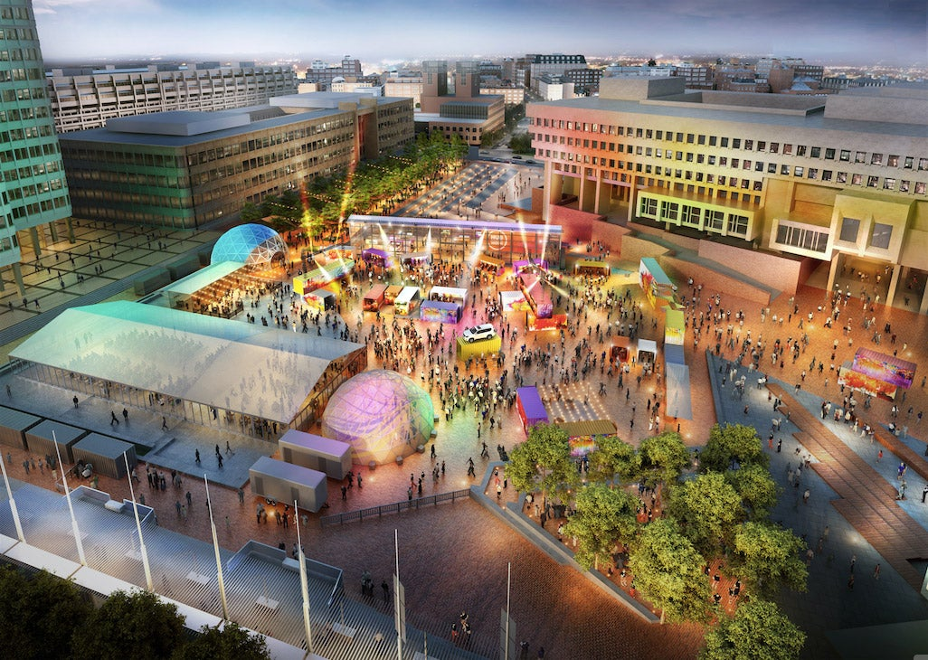 HUBweek's Center Stage, a 350-500 capacity space that will serve as an anchor to this year's event, will host some of Harvard's events.