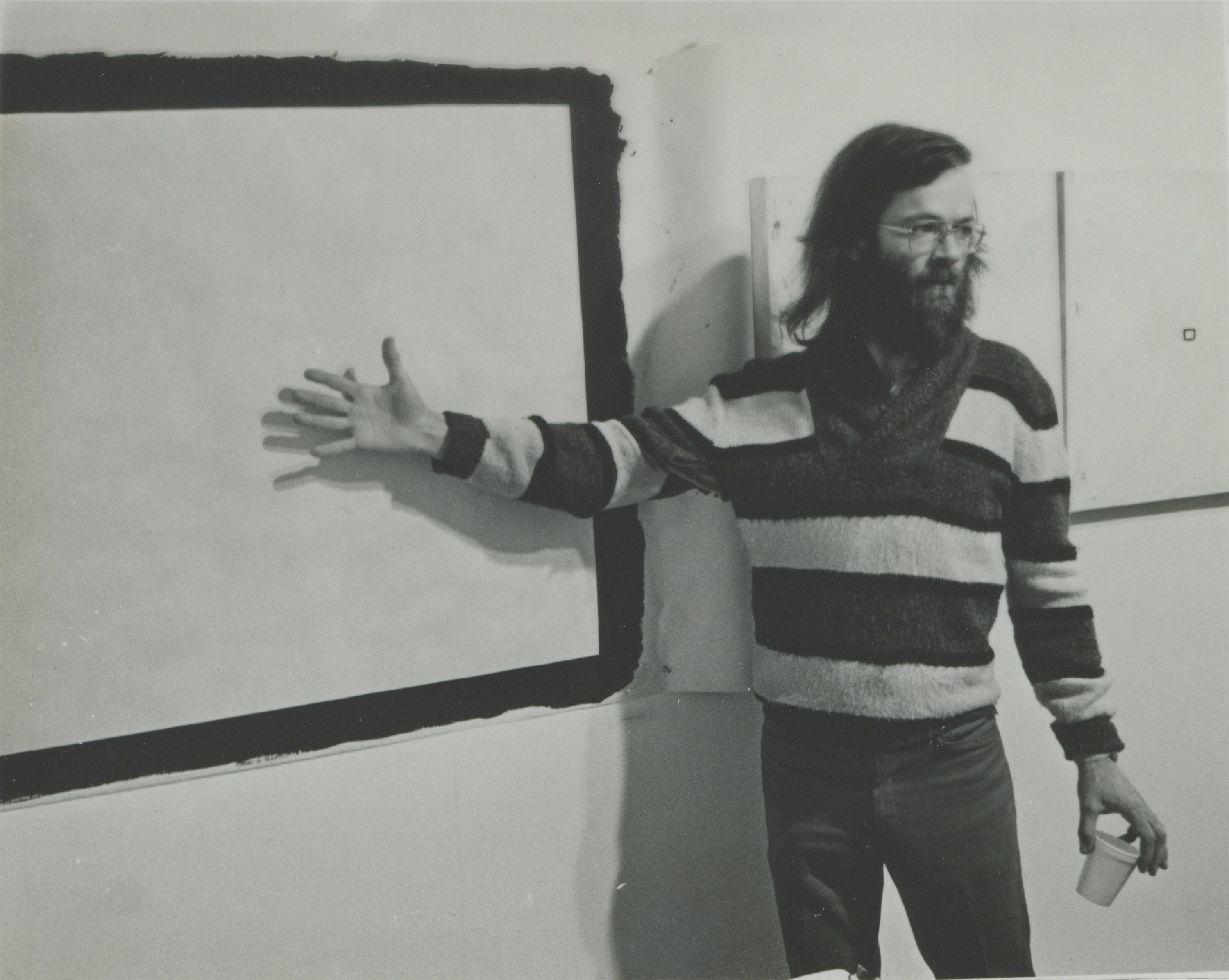 "Tony Conrad with ""Yellow Movie."""