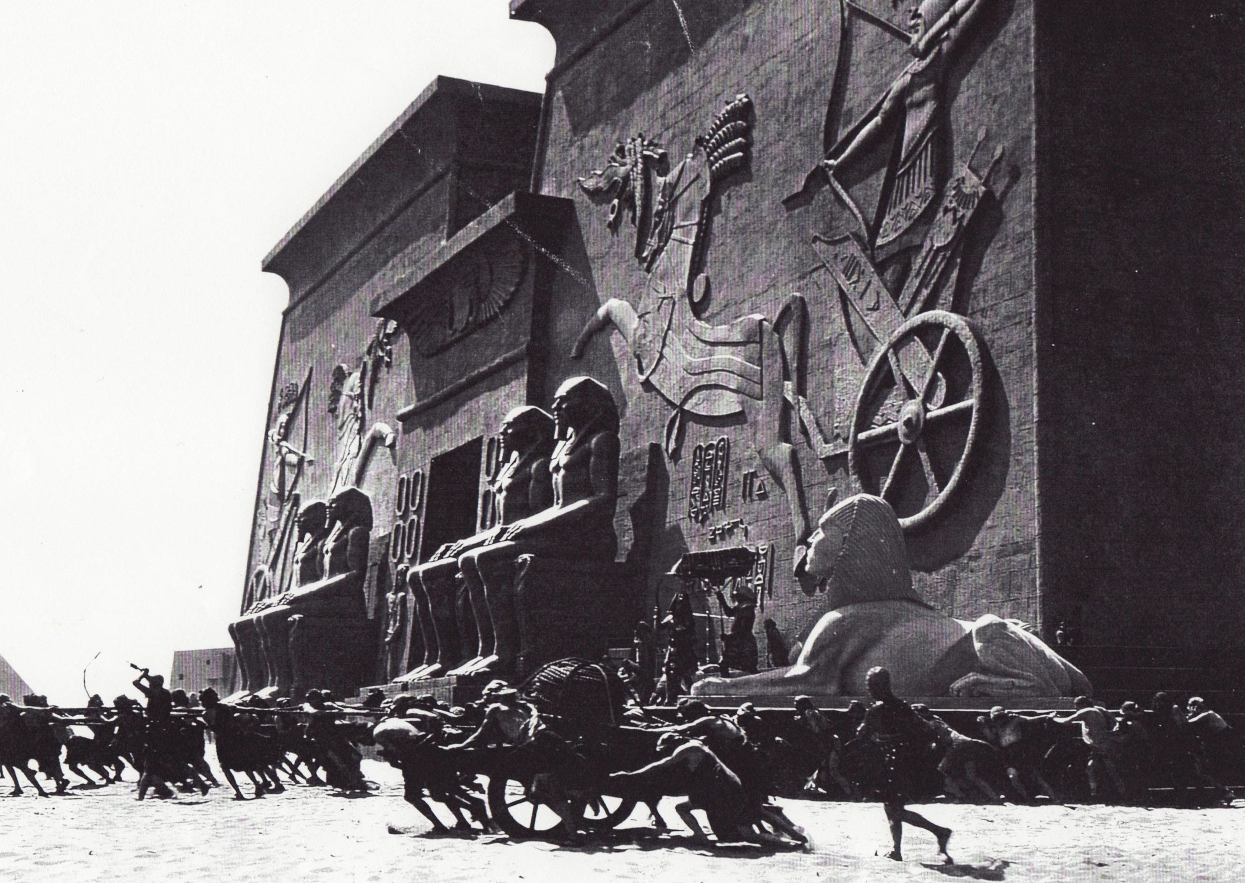 "Scene from ""The Ten Commandments,"" 1923."