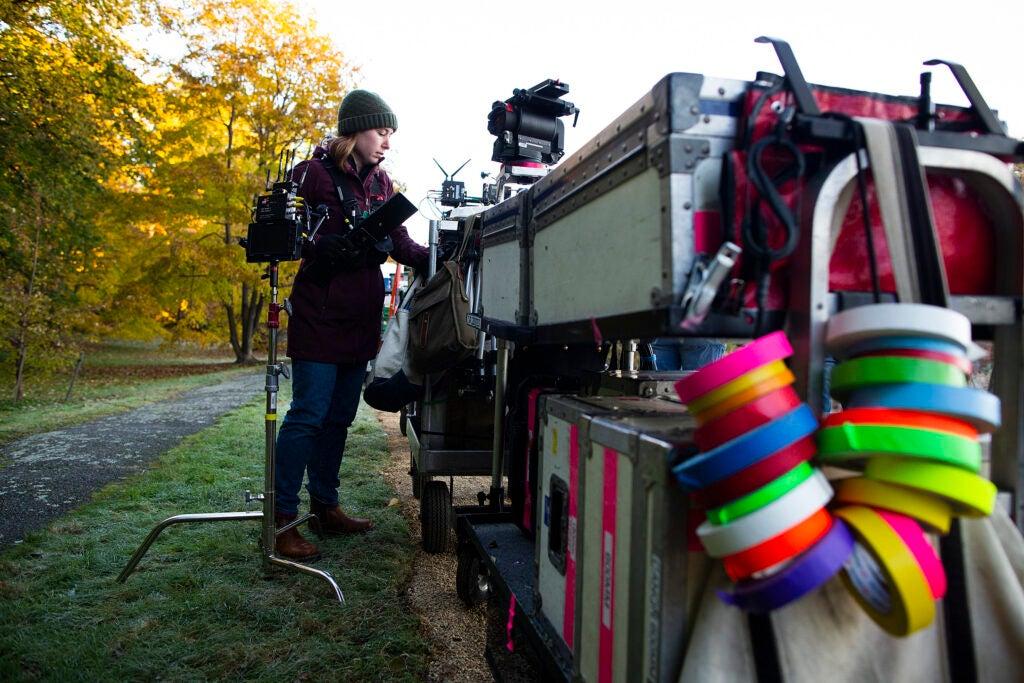 Talia Krohmal works on the set of 'Little Women.'