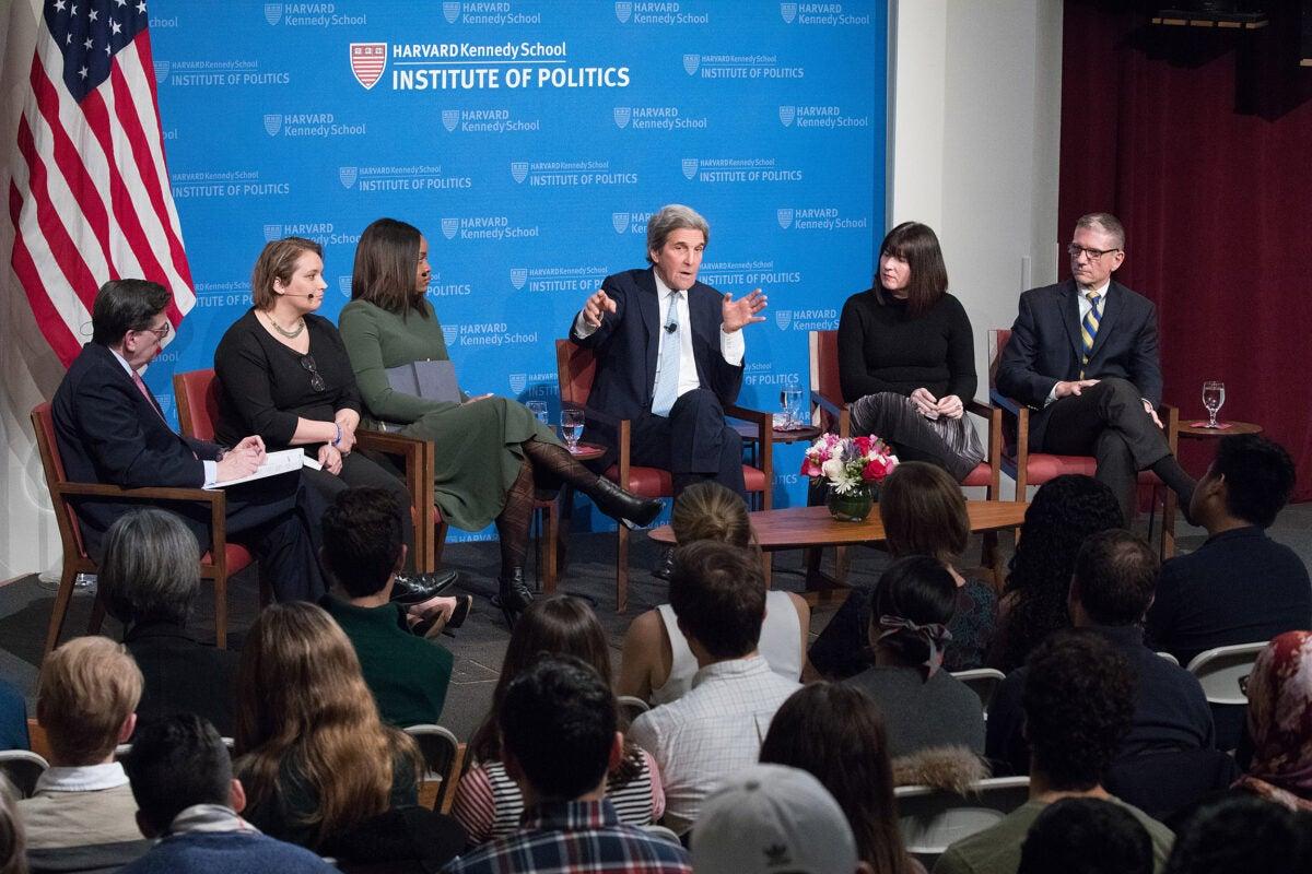 John Kerry and IOP fellows