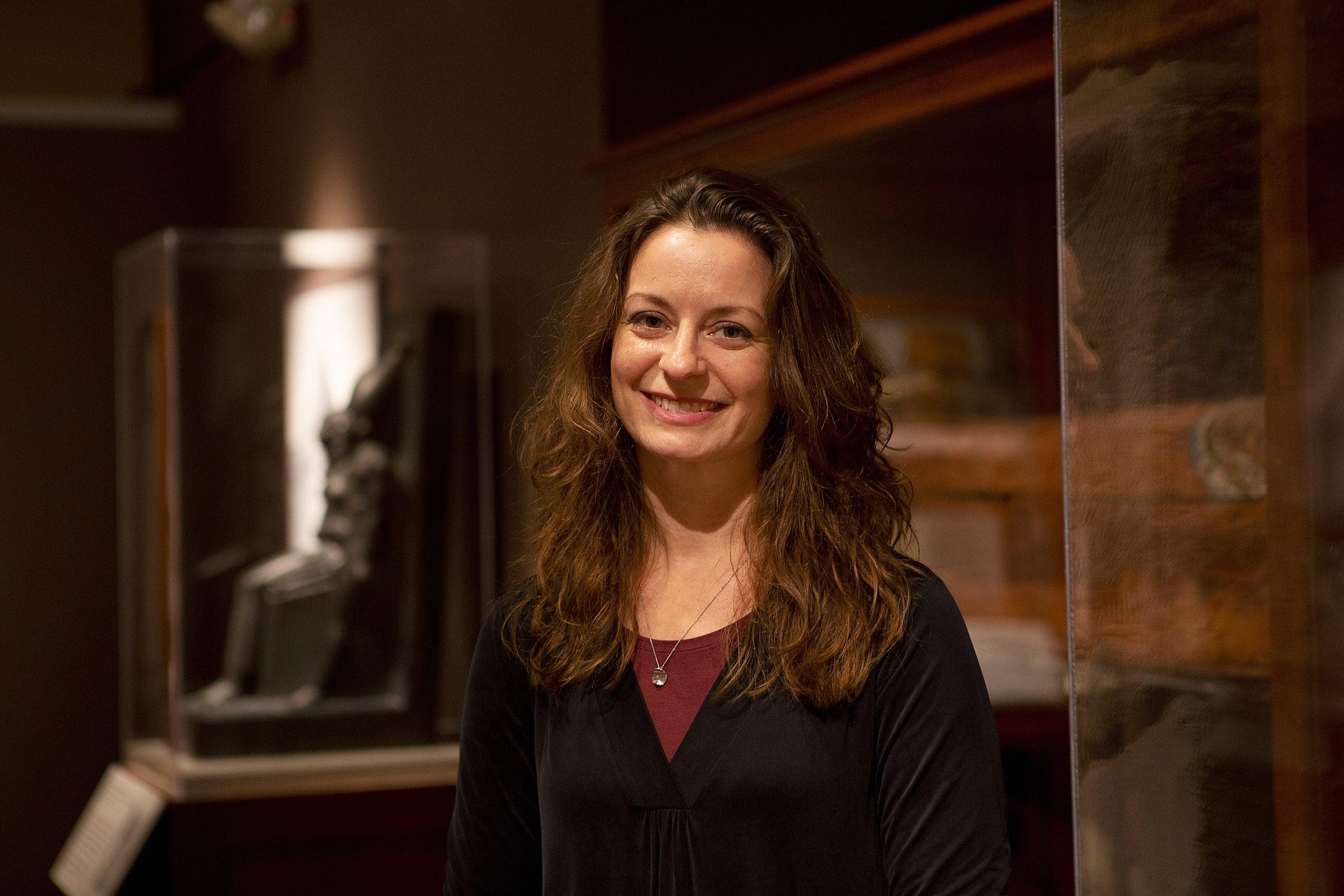 Christina Riggs at Harvard's Semitic Museum.