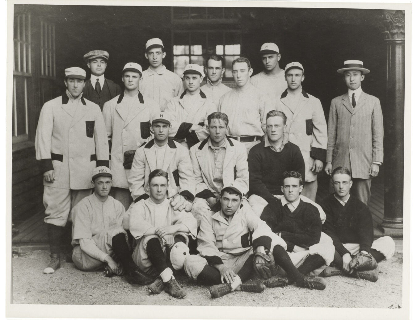 Harvard baseball 1912 team photo.