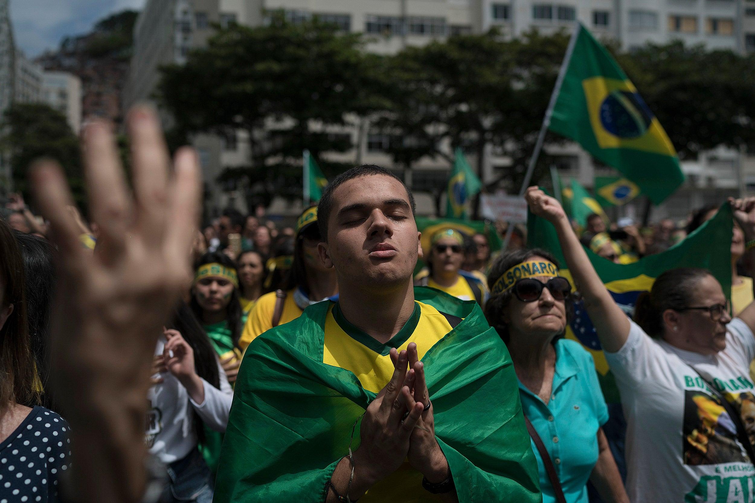 Bolsonaro campaign rally in Rio de Janeiro.