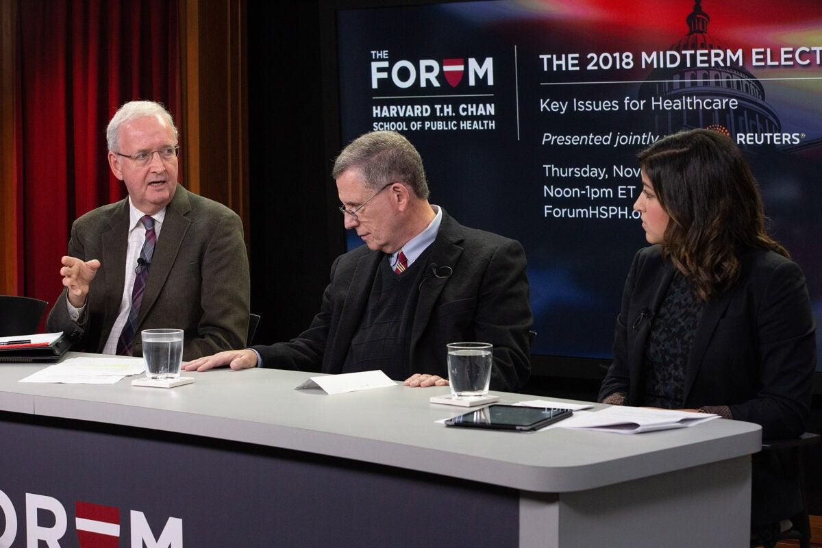 John McDonough, Robert Blendon, and Yasmeen Abutaleb.
