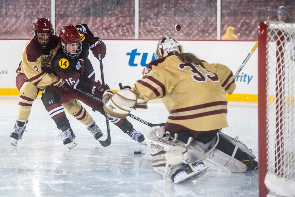 Women's hockey at Fenway: Harvard vs. BC.