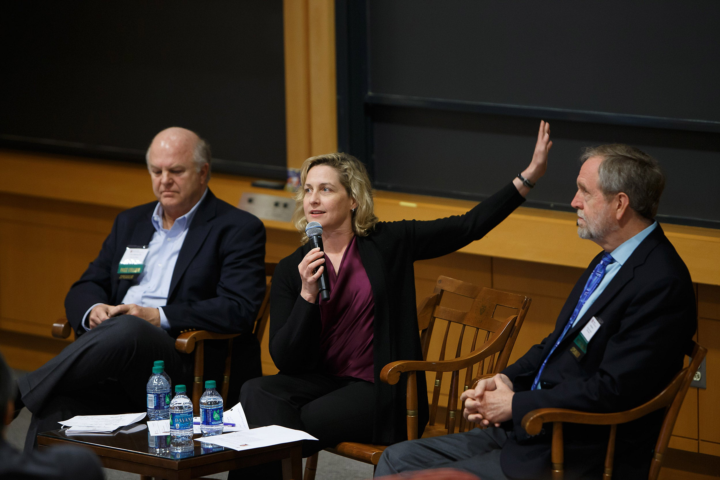 In January, Meredith Rosenthal (center) will begin her tenure as faculty chair of the Harvard Advanced Leadership Initiative.