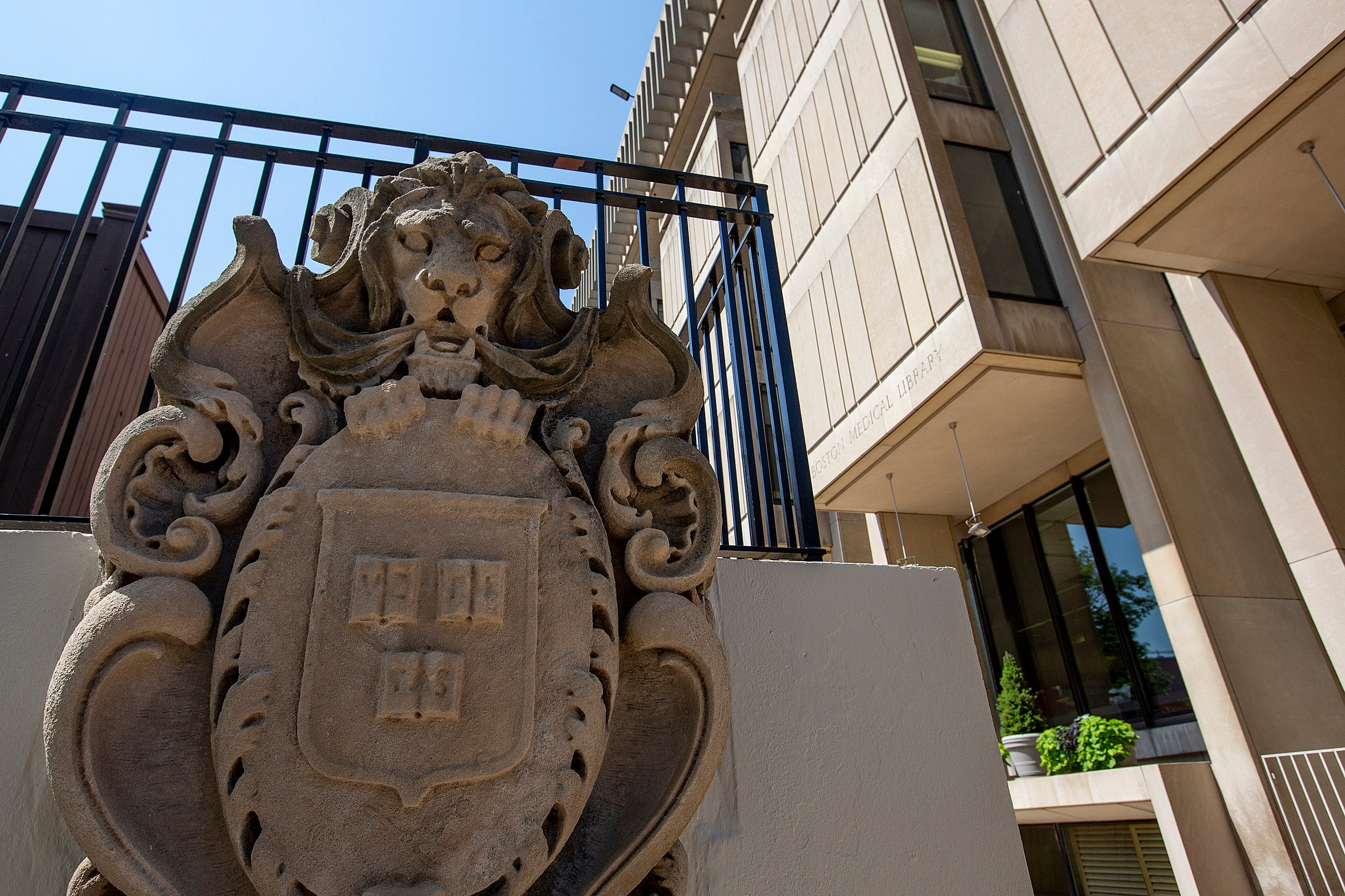 Harvard Chan School Building with Seal
