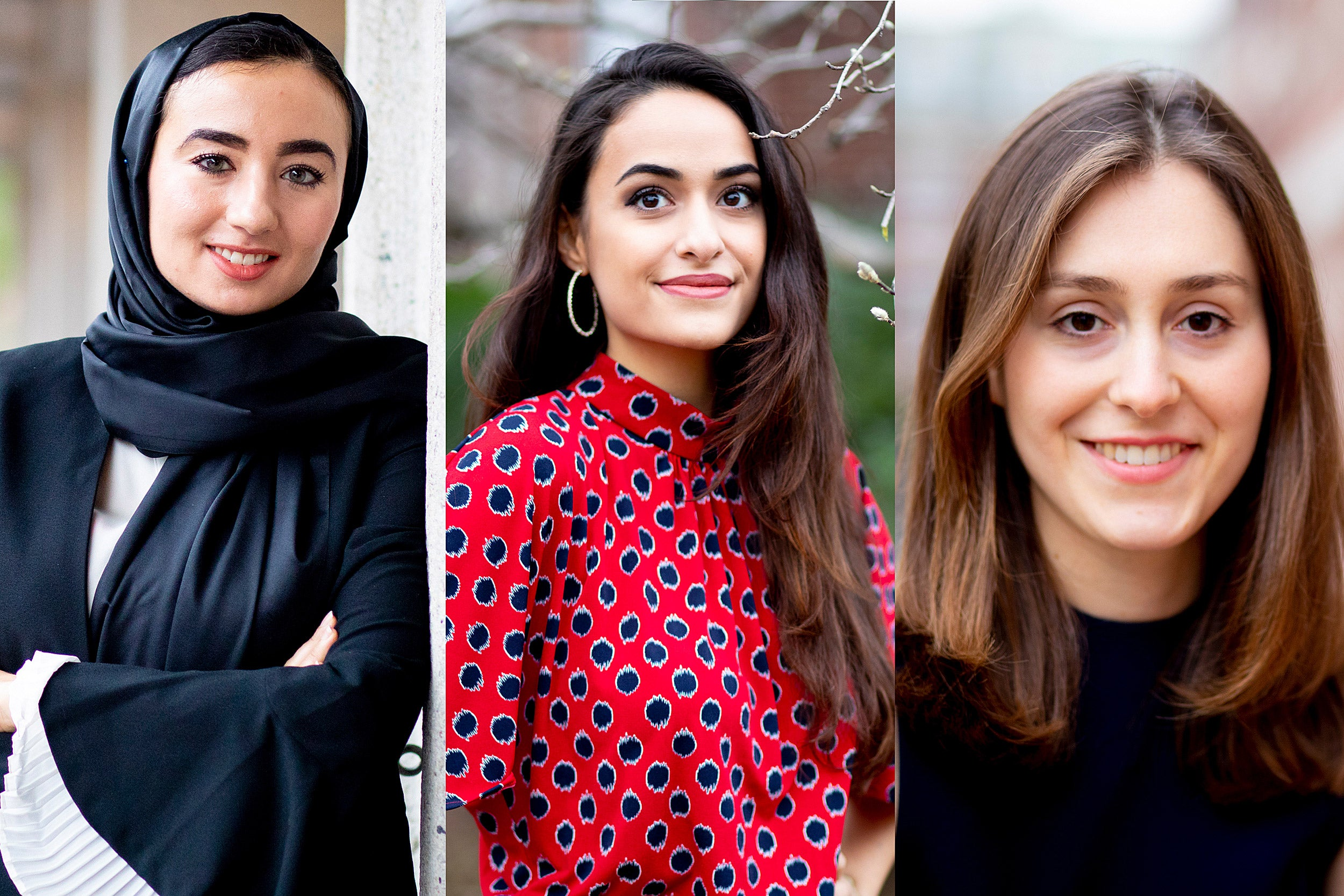Hanaa Masalmeh, Audria Amirian, and Carolina Brettler.