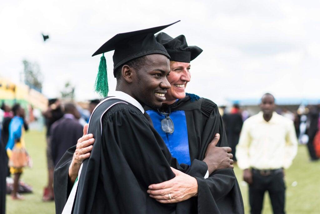 Joseph Nshimiyimana and Donna Hackley