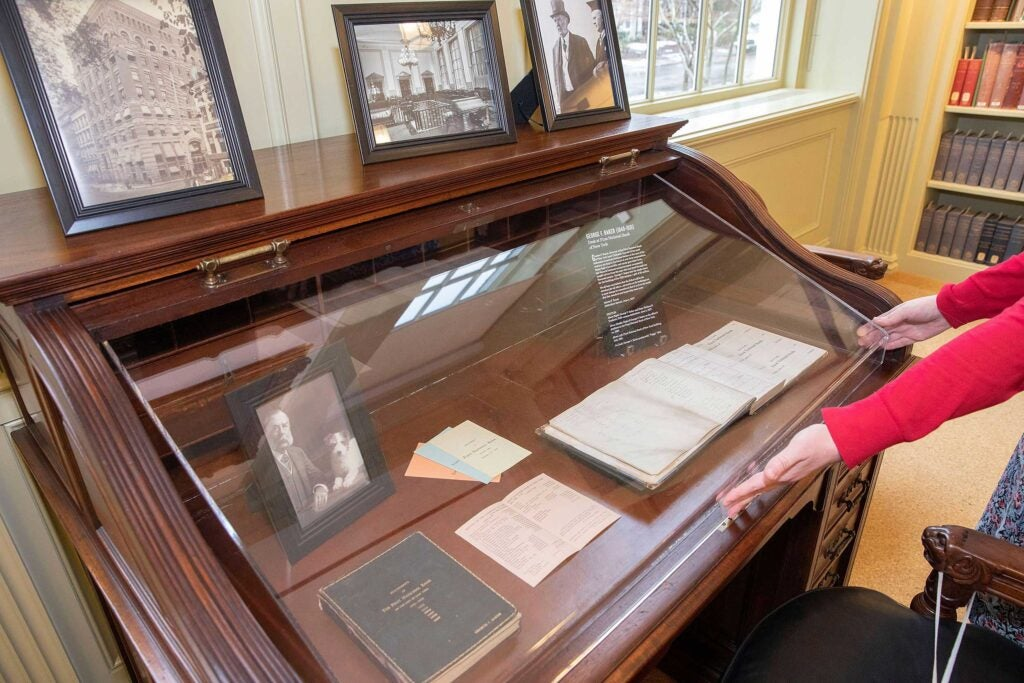 Desk from First National Bank