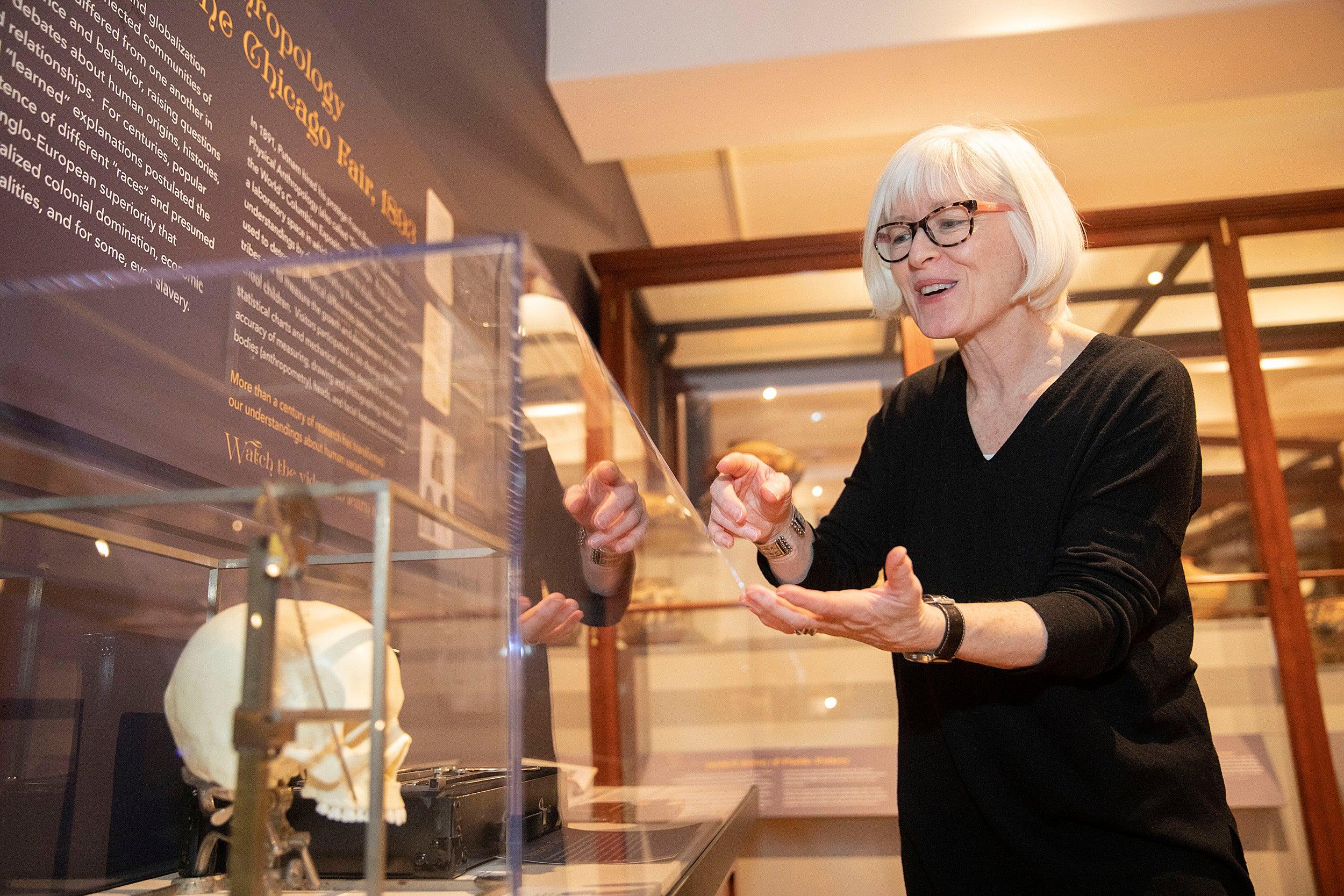 Christina Thompson at the Peabody Museum.