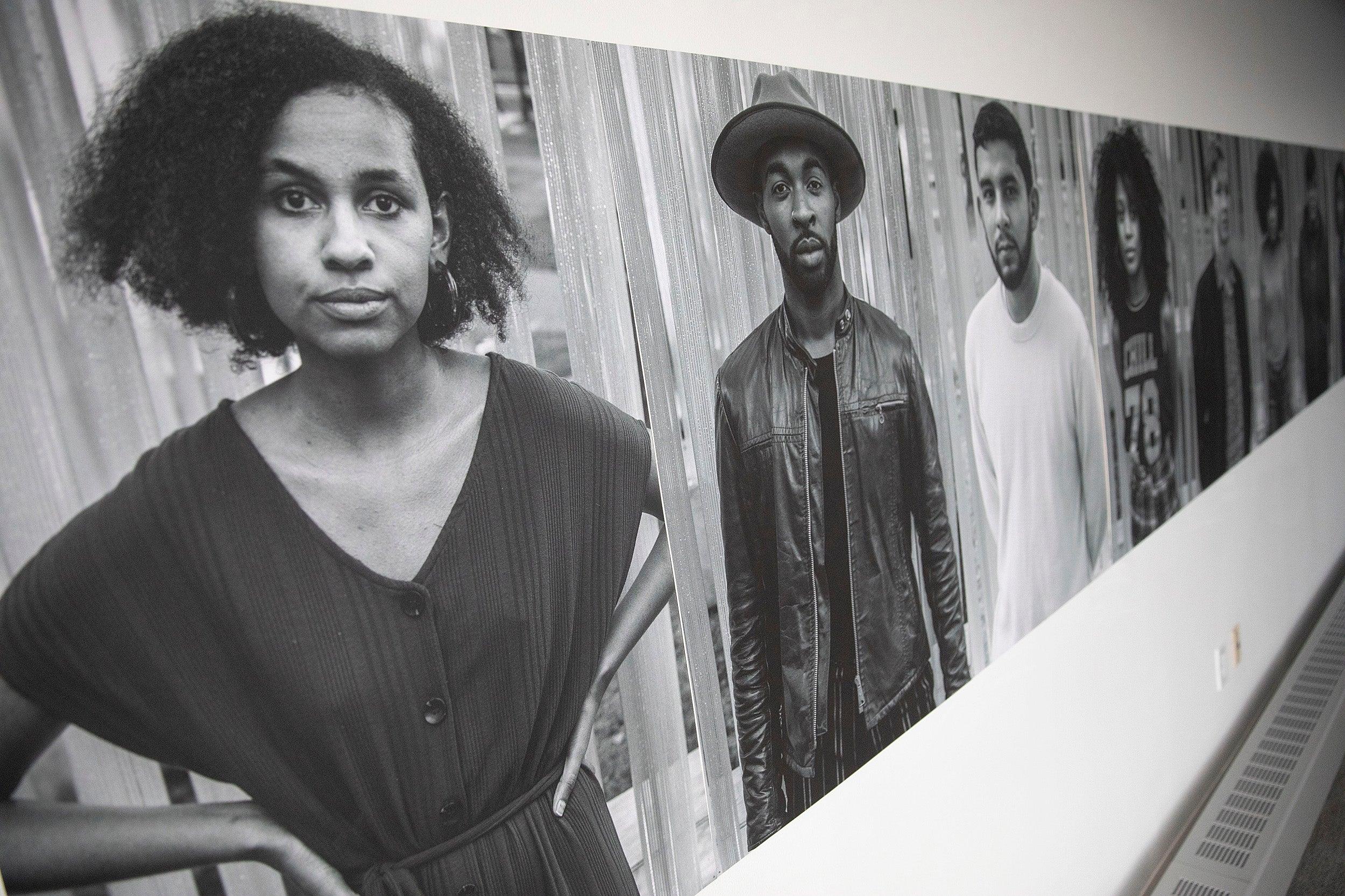 Portraits at the exhibit.
