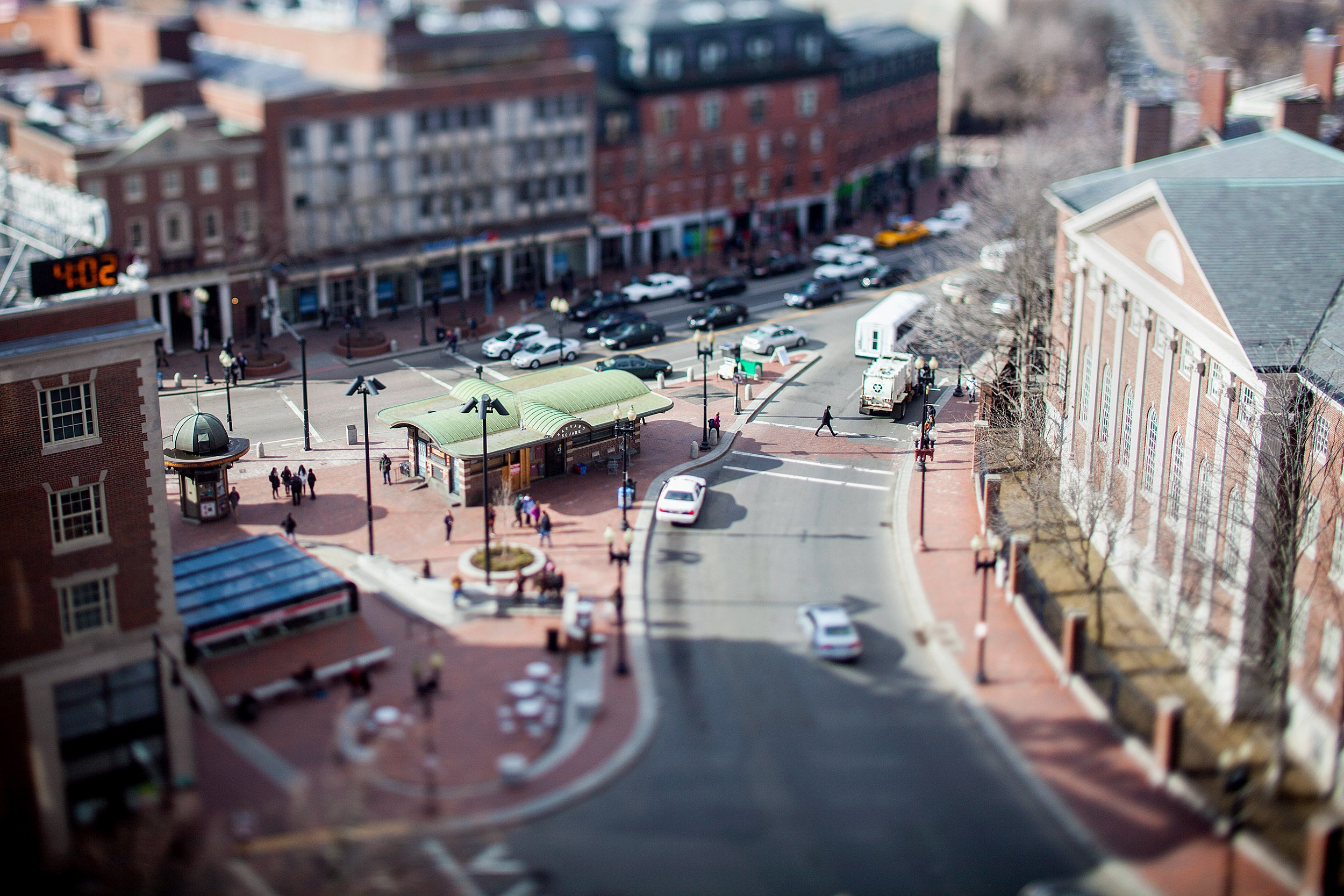 Harvard square as seen from above