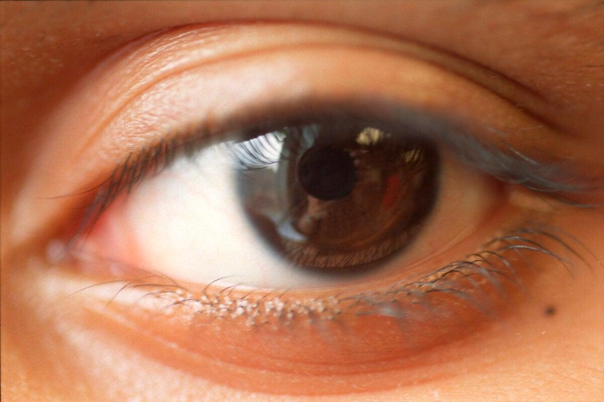 detail of an eye