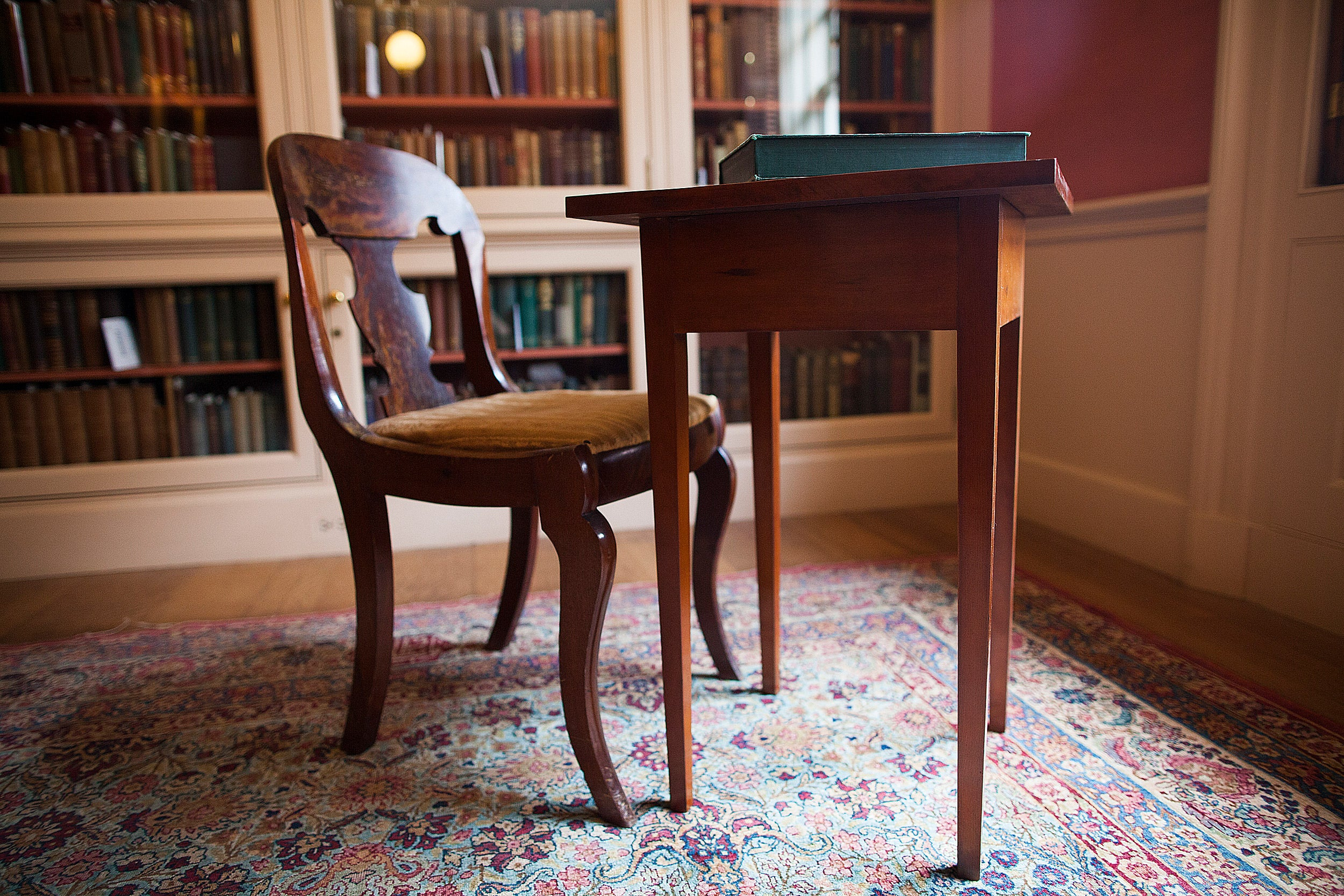 Emily Dickinson's chair and desk