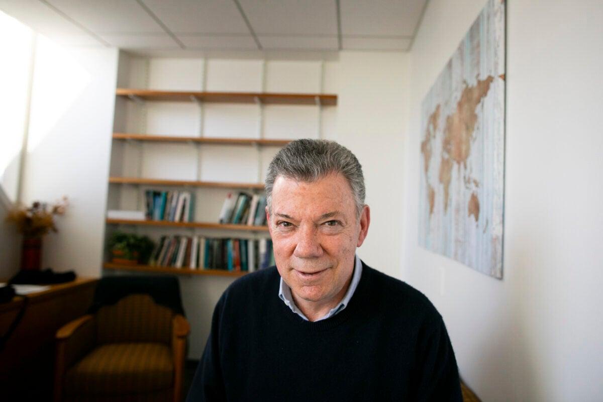 Juan Manuel Santos portrait.