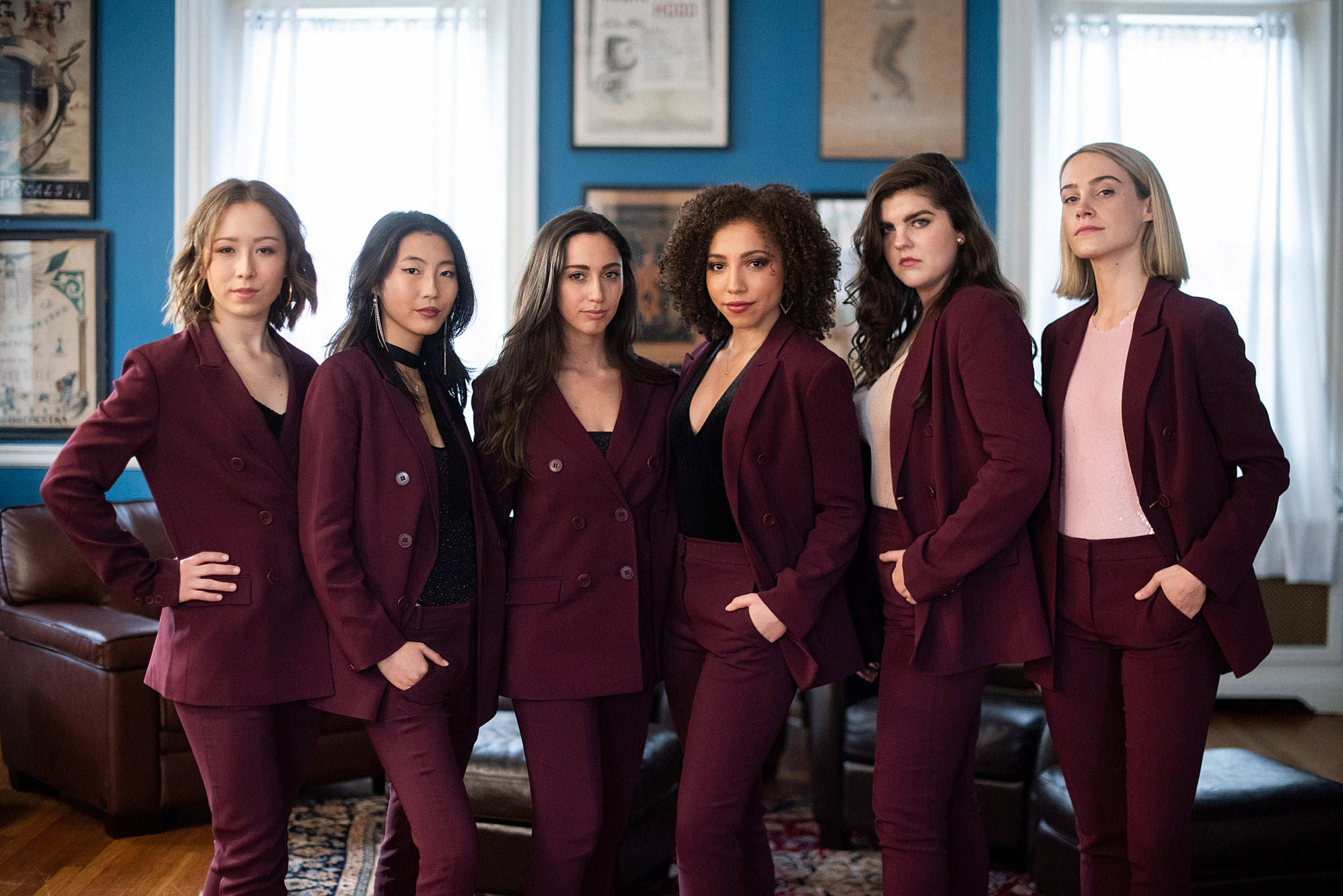 Celia Kenney '20, Shirley Chen '22, Laura Sky Herman '19, Ashley LaLonde '20, Elle Shaheen '20 Annabel O'Hagan '19.