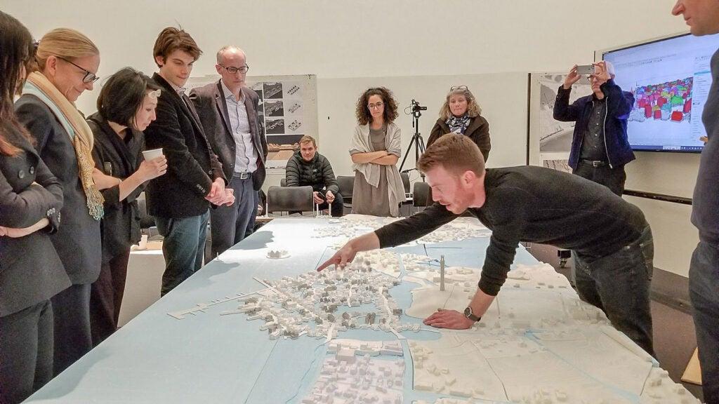 Ben Hait shows his Provincetown model.