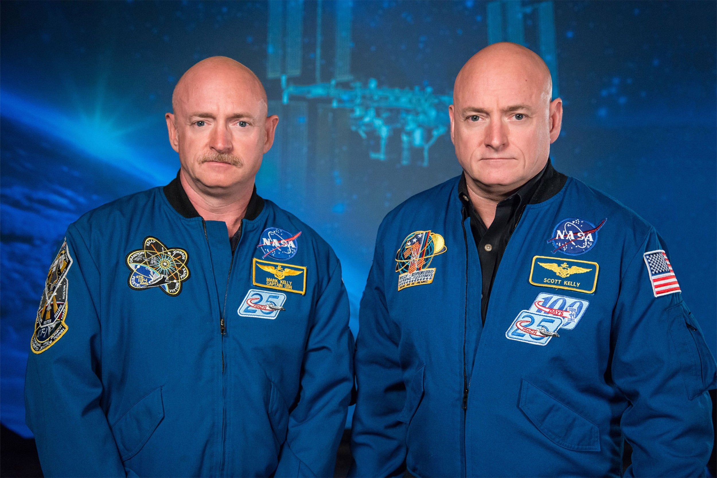Astronaut Scott Kelly along with his brother, former Astronaut Mark Kelly