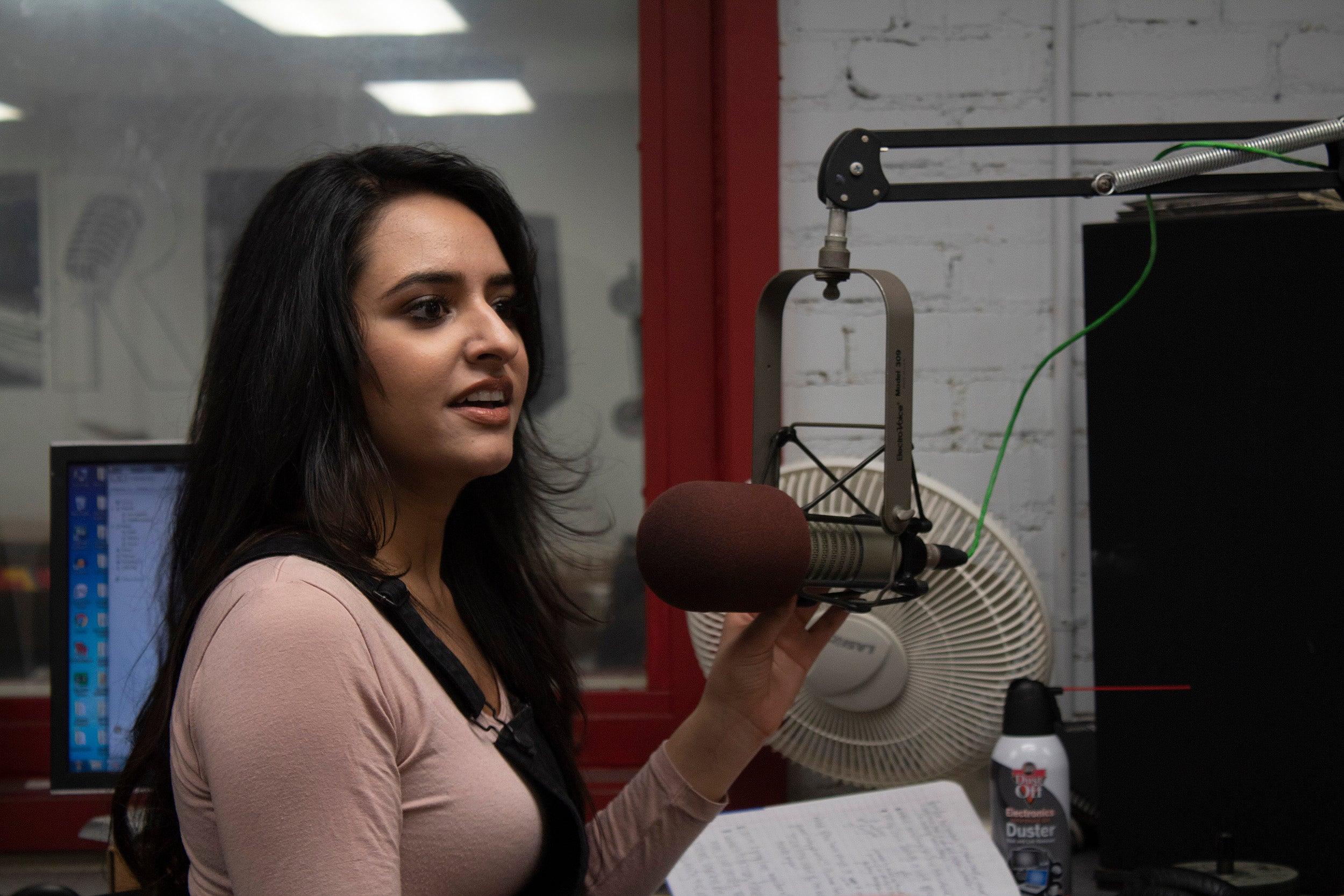 Henna Hundal in the studio.