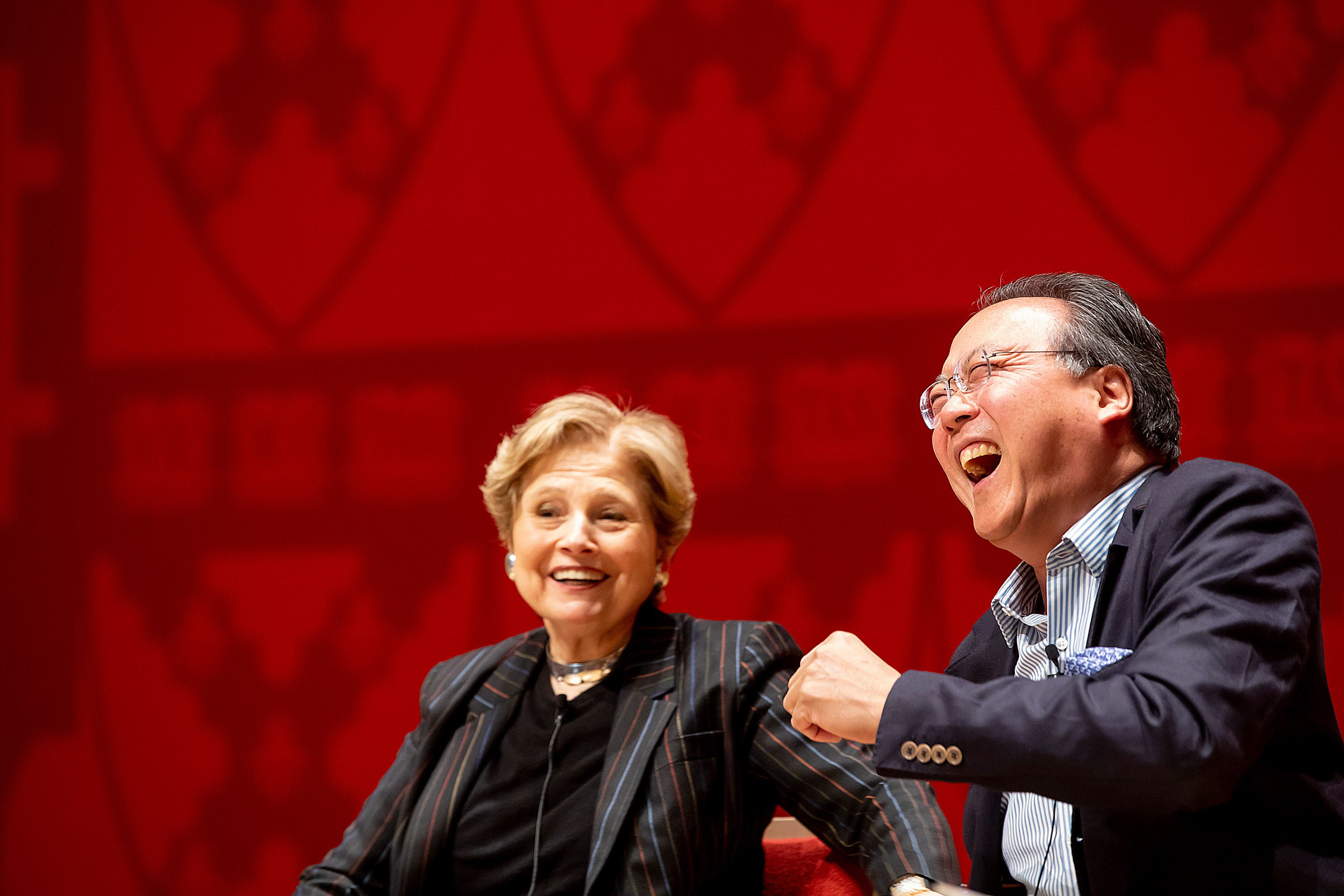Deborah Borda and Yo-Yo Ma