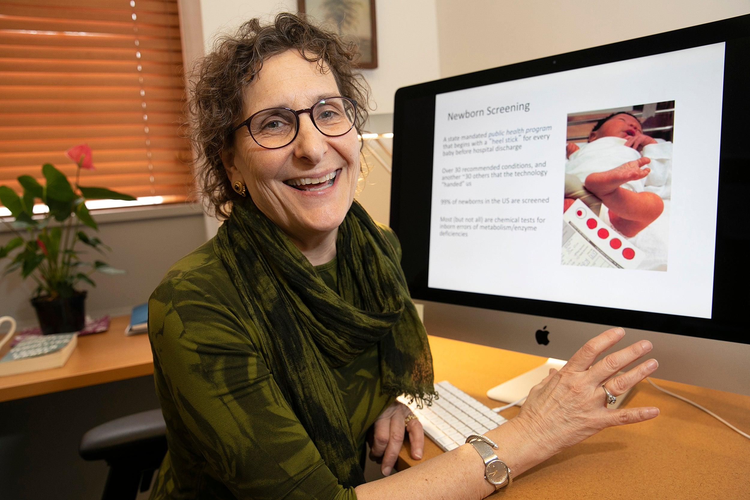 Lisa Diller at her desk