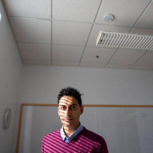 Faraaz Mahomed in an office