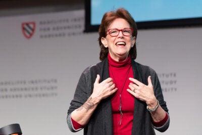 Susan Bennett, voice of Siri, speaks at Radcliffe.