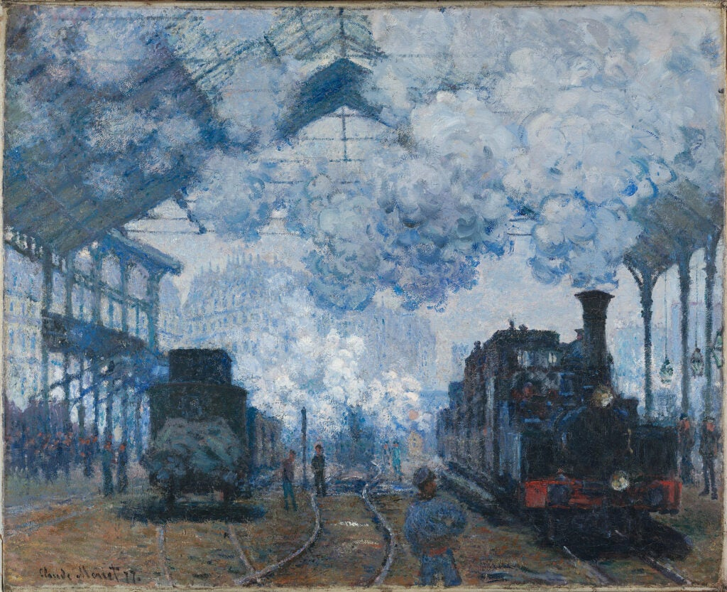 """The Gare Saint-Lazare: Arrival of a Train,"" Claude Monet."