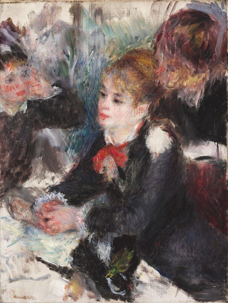 """At the Milliner's,"" Pierre-Auguste Renoir."