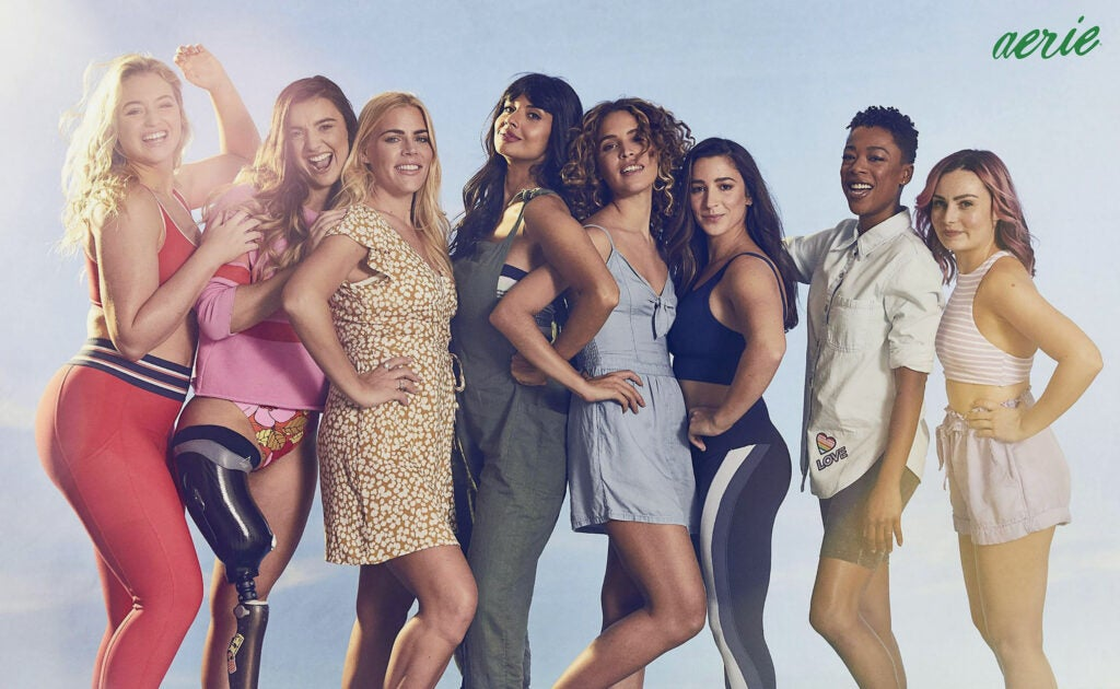 Aerie ad including women of all sizes