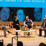 Chan School Dean Michelle Williams, Ophelia Dahl, Paul Farmer and Dean Nitin Nohria