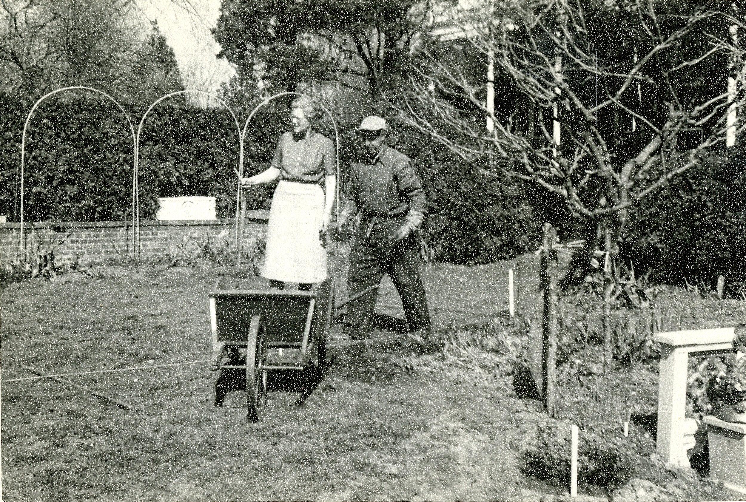 Marjorie Sedgwick in the garden
