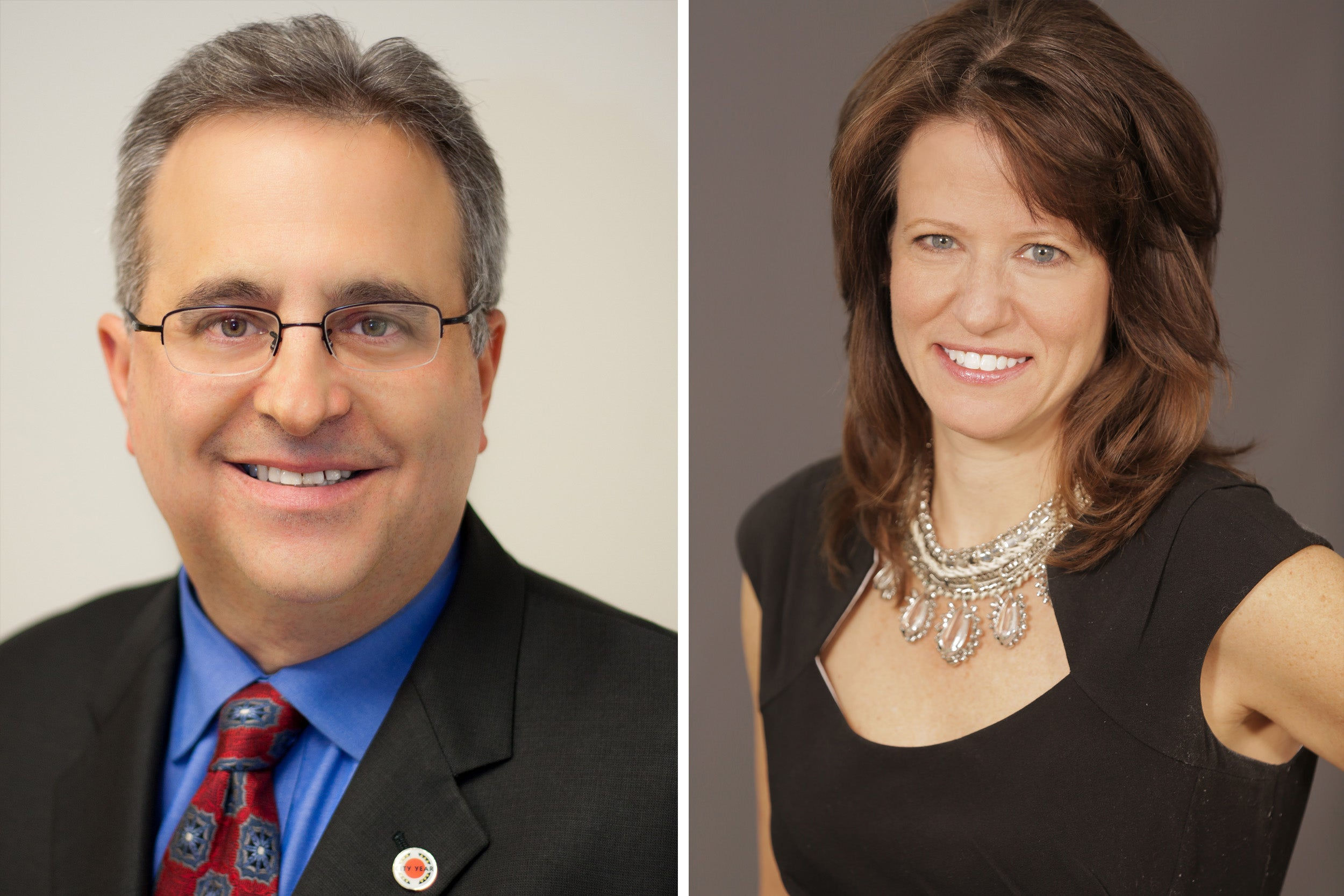 Michael Brown on left and Lesley Rosenthal