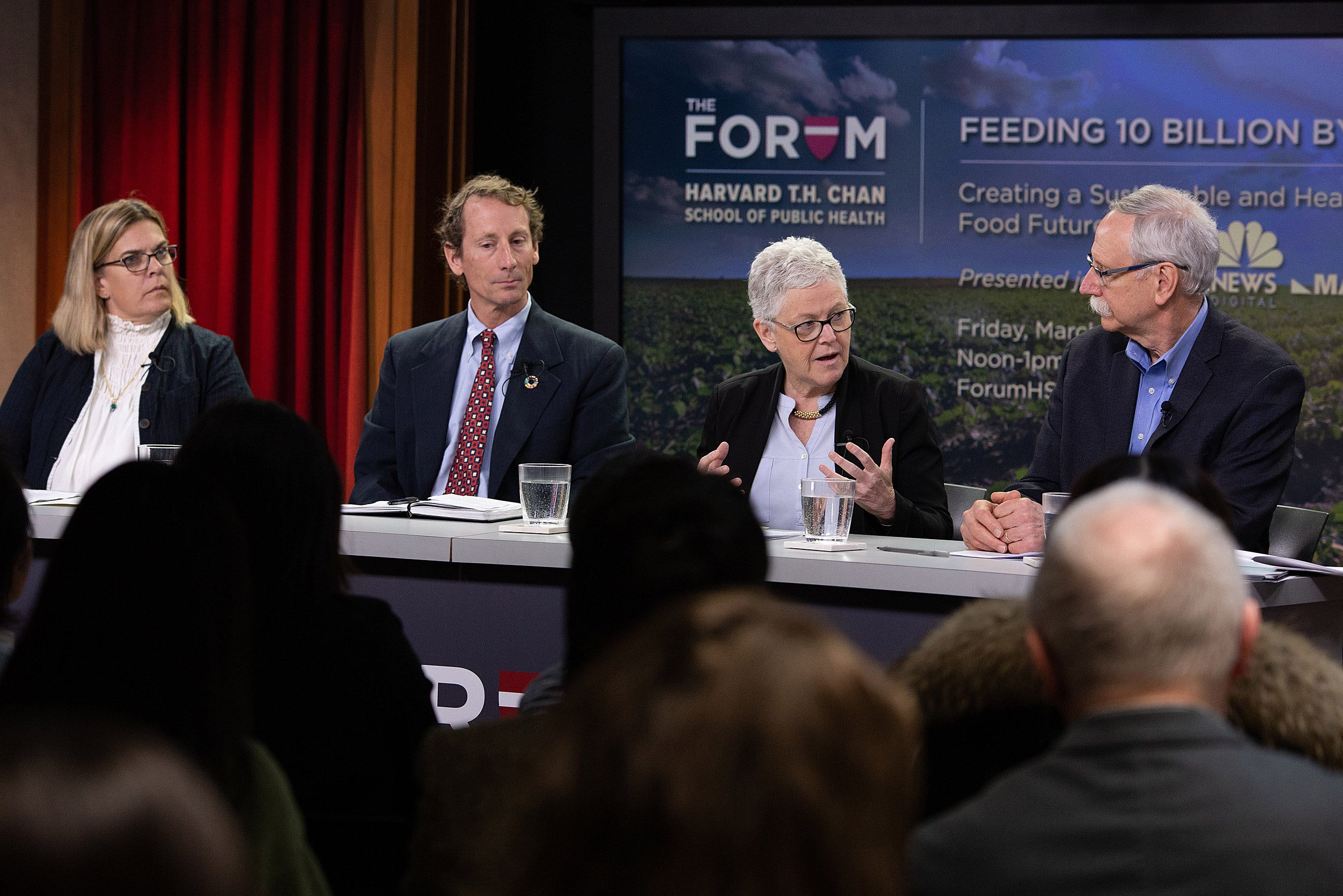 Anna Sortun, David Bennell, Gina McCarthy, and Walter Willett.