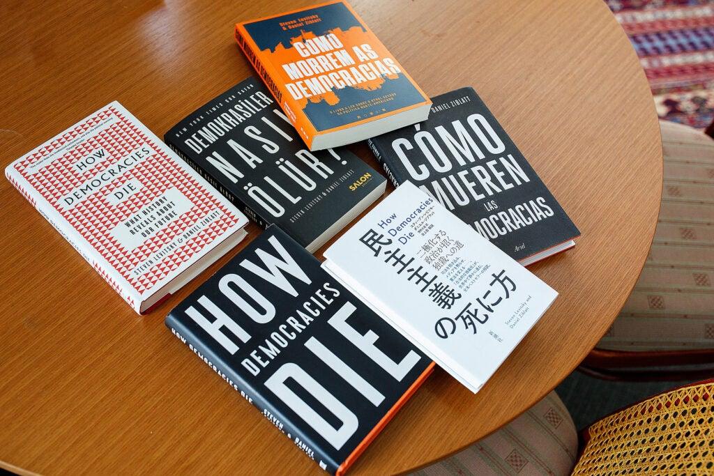 """""""How Democracies Die"""" book in multiple translations"""