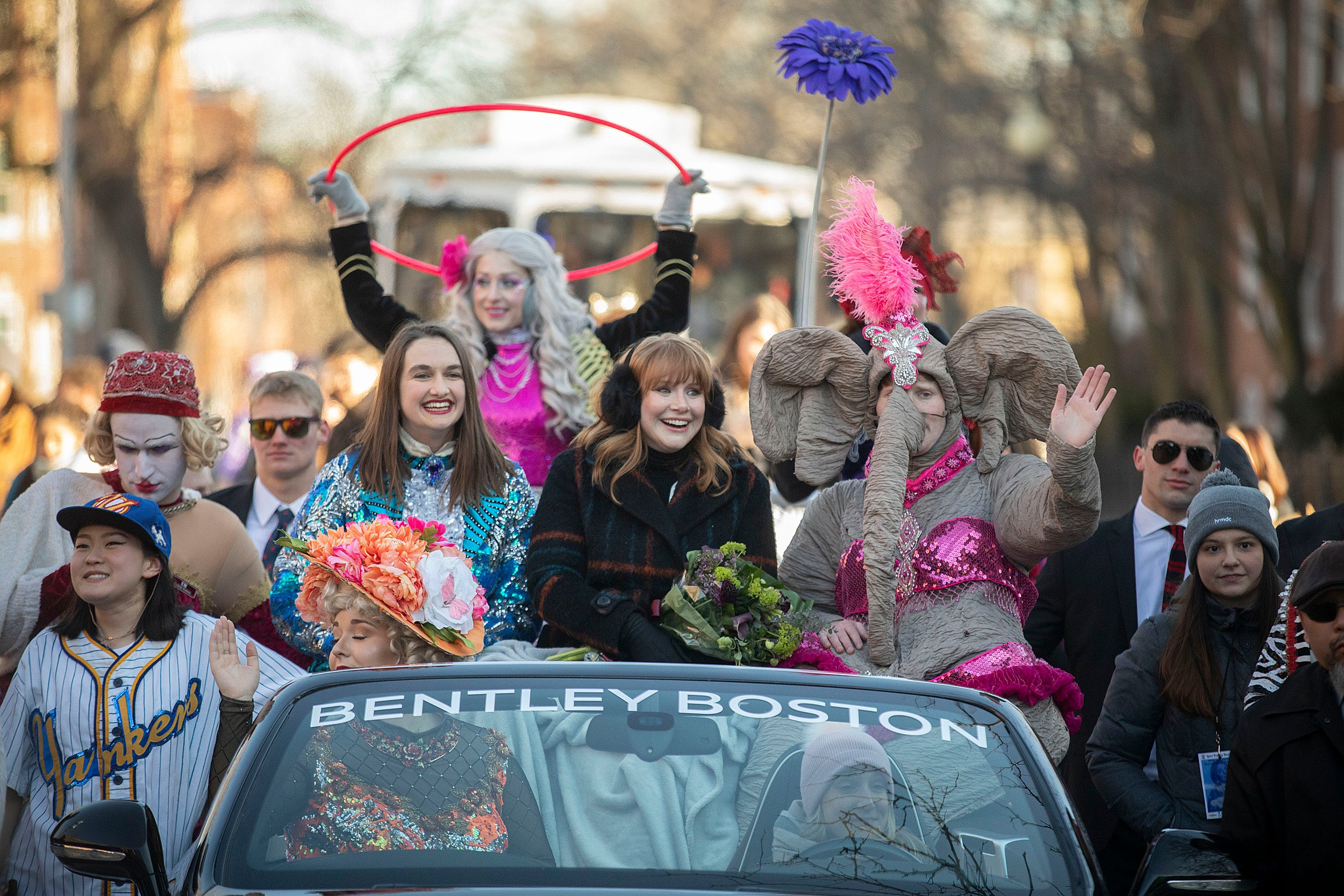 Bryce Dallas Howard in the Hasty Pudding parade