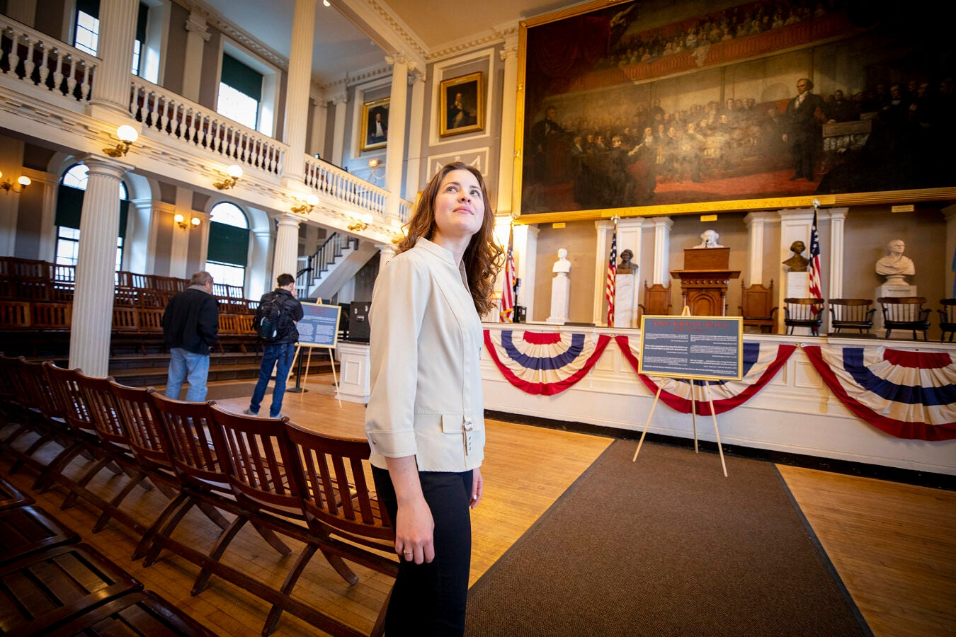 Yanet Gomez in Faneuil Hall.