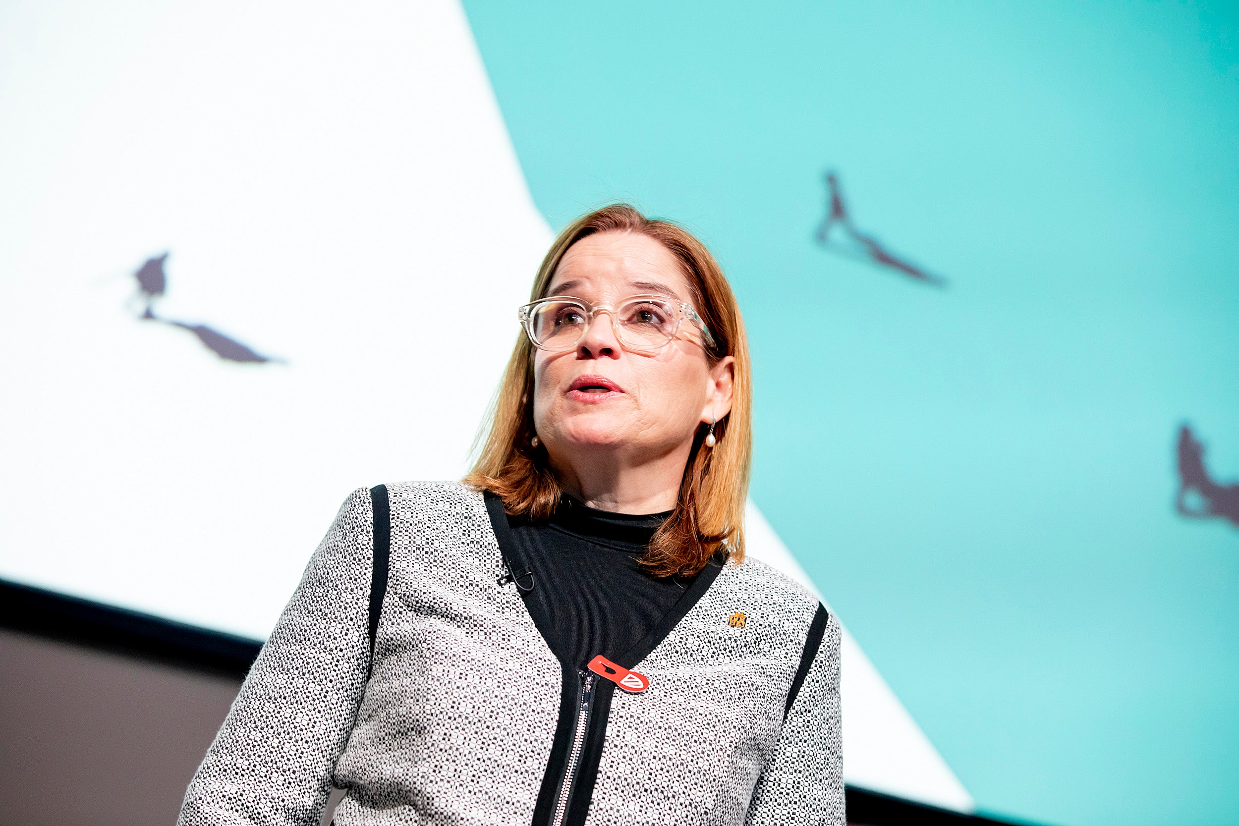 Carmen Yulín Cruz, mayor of San Juan, Puerto Rico, speaks at a Radcliffe conference about citizenship.