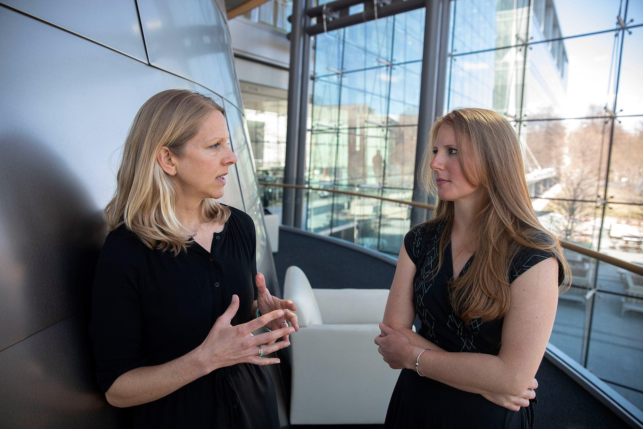 Sylvia Kehlenbrink (left) and Lindsay Jaacks.